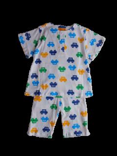 ベビー 半袖 かぶりパジャマ<br>「くるま」 80-100