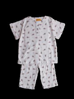 ベビー 半袖 かぶりパジャマ<br>「メガネくま」 80-100