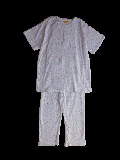 婦人 半袖 かぶりパジャマ<br>「鳥と花」