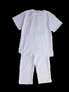 婦人 半袖 かぶりパジャマ<br>「水玉」