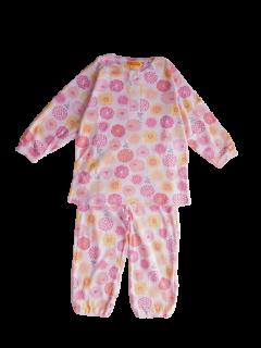 ベビー 女の子 長袖 かぶり パジャマ<br>「花と羊」 80-100