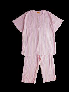 ジュニア 半袖 かぶりパジャマ<br>「ストライプ」 150
