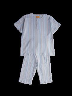 紳士 半袖 かぶりパジャマ<br>「ストライプ」 薄地・天竺