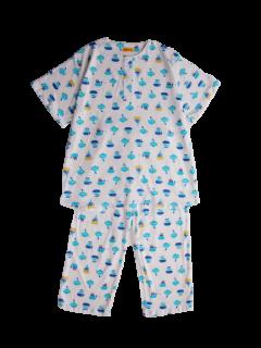 ジュニア半袖 かぶりパジャマ<br>「せんすいかん」 150