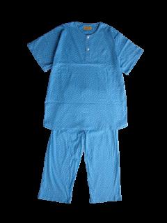 ジュニア 半袖 かぶりパジャマ<br>「スクエアドット」 150