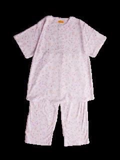 ジュニア 半袖 かぶりパジャマ<br>「鳥と花」 150