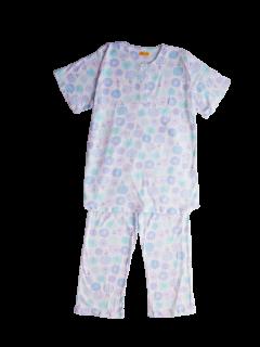 ジュニア 半袖 かぶりパジャマ<br>「花と羊」 150