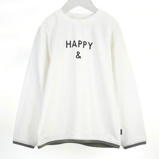 【FRIEND SHIP Fair Vol.2 30%OFF】MENS CLEAR COTTON HAPPY & L/S T 【ARCH&LINE】