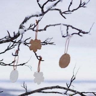 【おすすめHoliday gift♪】Holiday オーナメント 2セット ホワイト【marimekko】