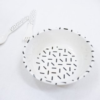 【Baby&Kids Fair 5%OFF】BABY GEOMETRY MELAMINE BOWL 【chocolatesoup】