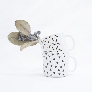【Baby&Kids Fair 5%OFF】BABY GEOMETRY MELAMINE MUG CUP【chocolatesoup】