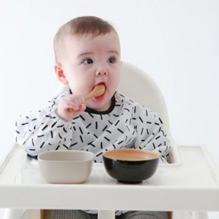 【Baby&Kids Fair 5%OFF】新柄ANIMAL入荷♪ BABY GEOMETRY SMOCK【chocolatesoup】