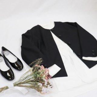 【セレモニーフェア】カルゼ ノーカラージャケット【Sarahwear】