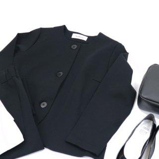 【セレモニーフェア】ポンチ ノーカラージャケット【Sarahwear】