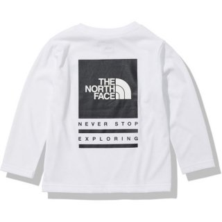 KIDS L/S TNF Bug Free Logo Tee【THE NORTH FACE】