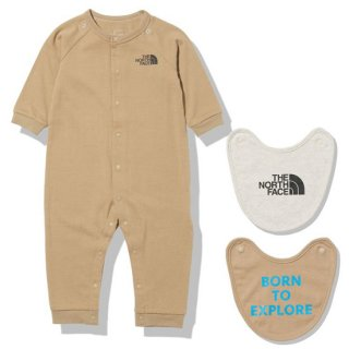 BABY L/S Rompers & 2P Bib【THE NORTH FACE】//