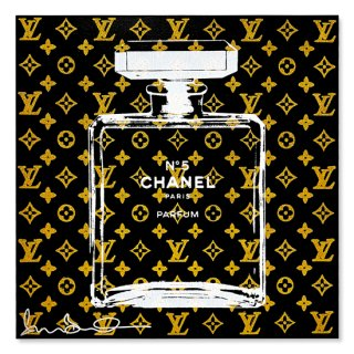 Gold Glitter Chanel Black - Silk Screen [ Exclusive ] -