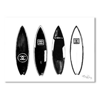 Chanel Surfboard Black And White