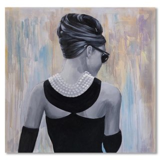 Audrey Hepburn Abstract Style Back View
