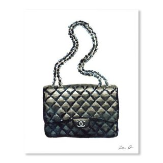 Chanel Quilted Handbag Classic Watercolor Fashion Illustration Coco Quotes