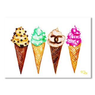 <img class='new_mark_img1' src='https://img.shop-pro.jp/img/new/icons16.gif' style='border:none;display:inline;margin:0px;padding:0px;width:auto;' />Chanel Poster Art Print Ice Cream print