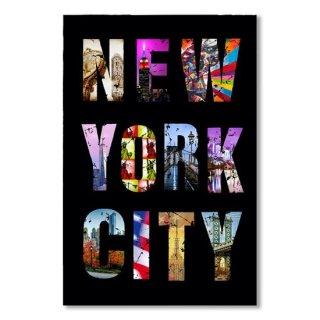 New York City Text on Black