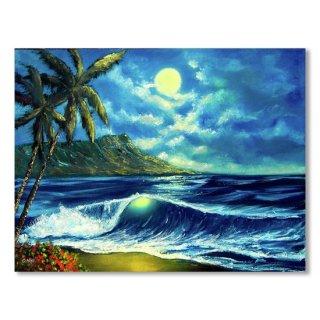 Diamond Head Moon Waikiki Beach #407