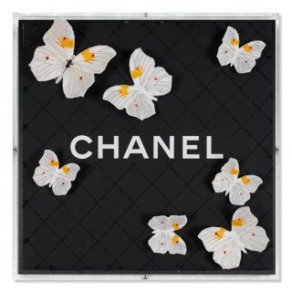 Chanel Black Net Flutter