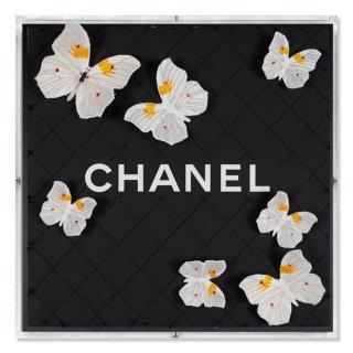 Chanel Black Net Flutter