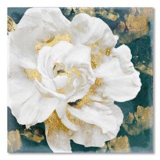 Petals Impasto White and Gold