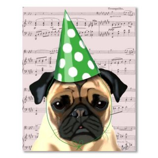 Pug in a party Hat