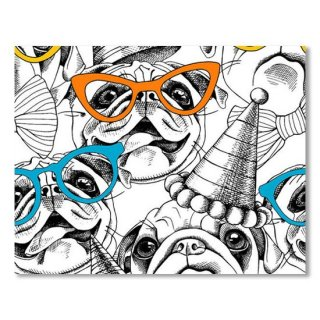 Seamless Pattern With Image Of A Pug