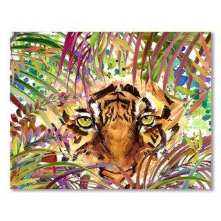 Cool Tiger Watercolor Illustration