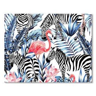 Exotic Pink Flamingo Zebra