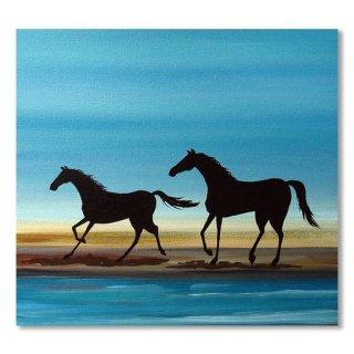 Beach Stroll - horse landscape ocean