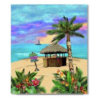 Tropical Island Tiki Hut