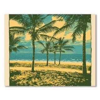 Tropical Idyllic Landscape With Palms