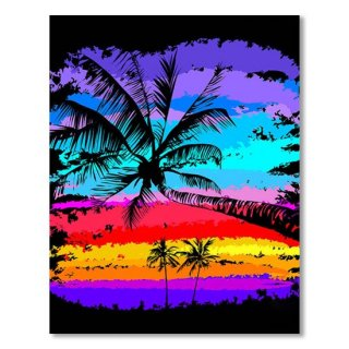 Black Silhouettes Of Palm Trees