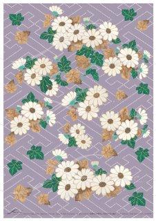 アートペーパー「FUNE」JSAD0008 陶絵 白菊