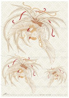 アートペーパー「FUNE」JSAD1013 陶絵 鳳凰(白)