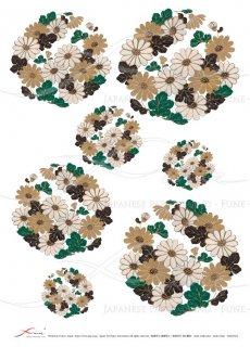 ライスペーパー「FUNE」JSAR1024 陶絵 丸紋菊