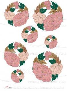 ライスペーパー「FUNE」JSAR1021 陶絵 丸紋牡丹