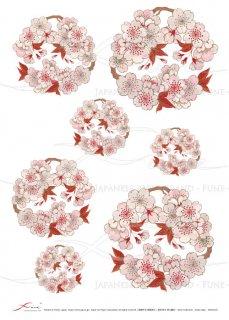 ライスペーパー「FUNE」JSAR1016 陶絵 桜花丸紋