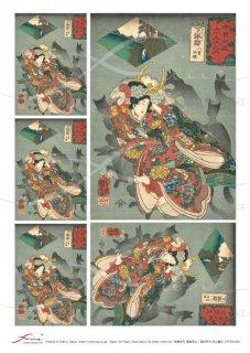 デコパージュ用アートペーパー「FUNE」ATVP01006 木曽街道六十九次之内 下諏訪 八重垣姫 歌川国芳A