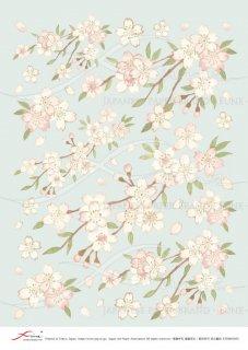 デコパージュ用アートペーパー「FUNE」ATNM03055 水彩桜