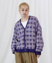 Iroquois_7G TUCK-KNITTING CHECK KNIT CD_PPL