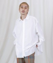 Iroquois_LY/C OVERSIZE SIDE-VENTS SH_WHT