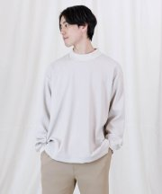 Iroquois_FULLDULL MOCK NECK L/S T_LGY