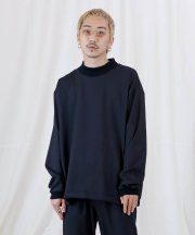 Iroquois_FULLDULL MOCK NECK L/S T_BLK