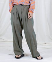 Iroquois_GASS TWILL CHAMBRAY WIDE PT_BRN